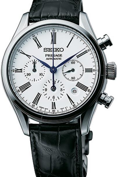 Seiko Presage Enamel Automatic Chronograph SRQ023