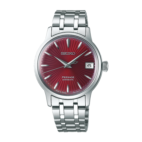 Seiko Presage - 34MM Cocktail Time Stainless Steel with Red Dial Made In Japan