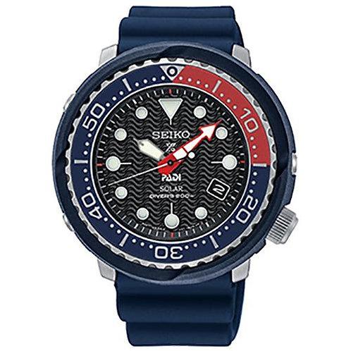 """Seiko Prospex PADI Solar """"Tuna"""" Dive Watch SNE499"""