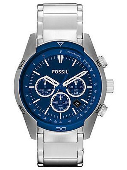 Fossil Mens Chronograph Silver Watch CH2841