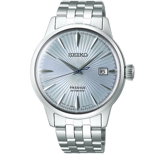 SRPE19J1  Seiko Presage - 40MM Cocktail Time  Silver Blue Dial Made In Japan