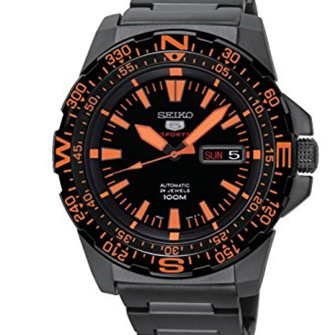 Seiko 5 Sport Automatic Black Dial Stainless Steel Men's Watch SRP547