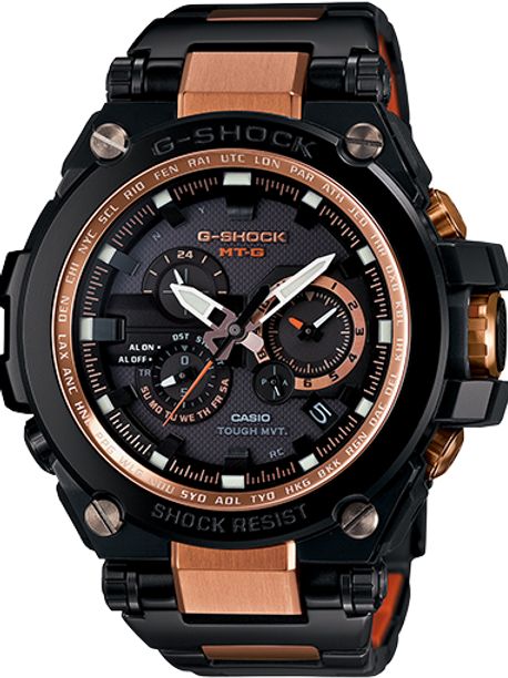G-SHOCK MTG Black Rose Gold Watch MTG-S1000BD-5A