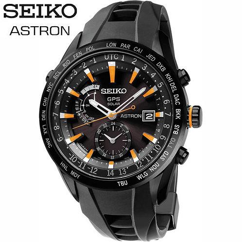 Seiko Astron Solar GPS SAST025 Black Dial Silicon