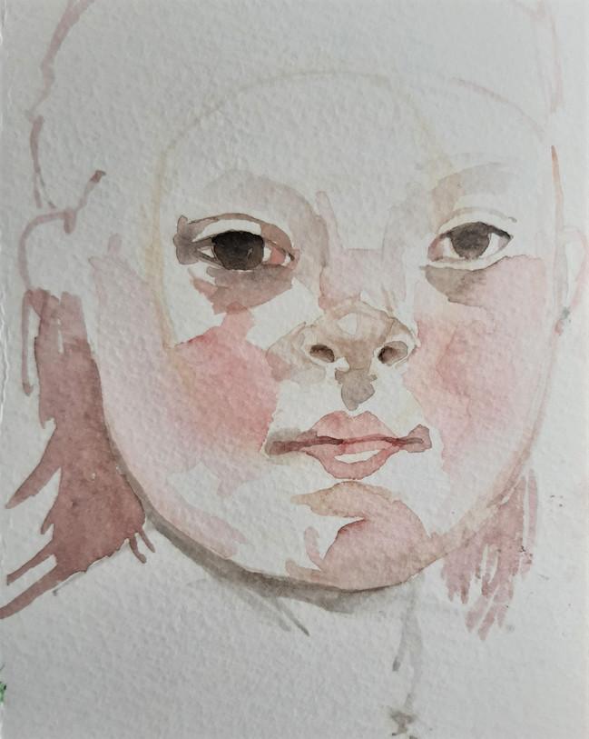 Zaara 2a. 17.5 x 12.5cm, watercolour on bockingford