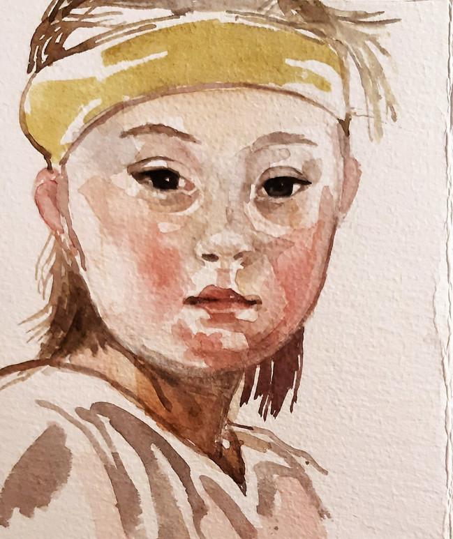 Zaara 1. 17.5 x 12.5cm, watercolour on bockingford