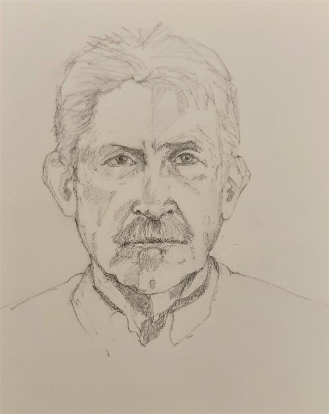 Mark. 28 x 20.5cm, pencil drawing