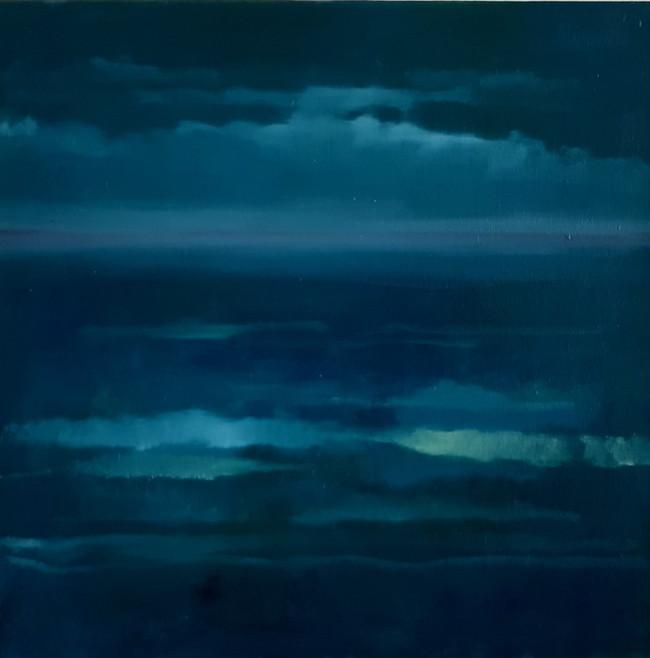 Dark Seascape. 40 x 40cm, oil on canvas