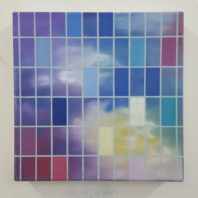 Summer Sky. 30 x 30 cm, oil on canvas