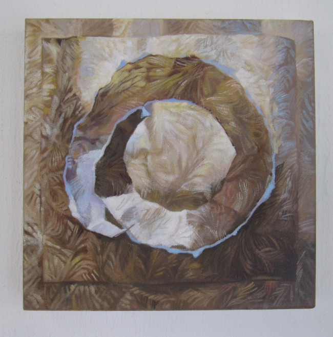 Gold Paper Fragment on Gold. 30 x 30 cm, oil on canvas. Sold
