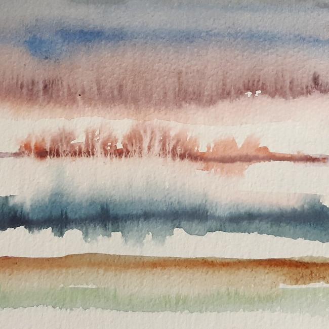 White Landscape. 12.5 x 15cm, watercolour