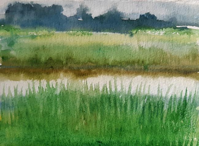 River. 12.5 x 15.5cm, watercolour