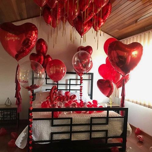 "Romantic balloon setup ""Heart"""