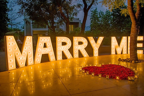 3 ft Marquee MARRY ME letters