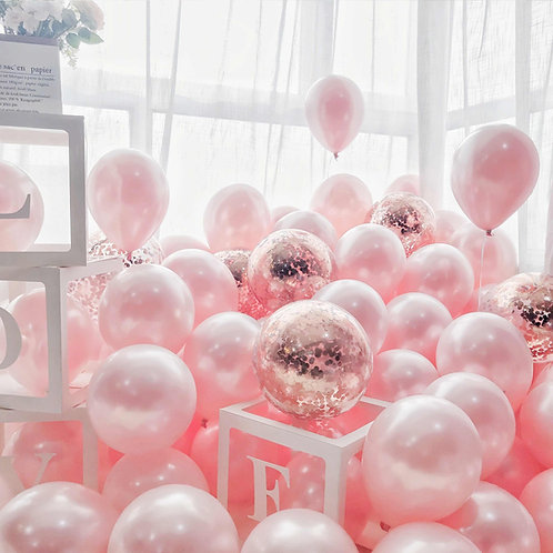 """Balloon room decoration """"Marry Me"""""""