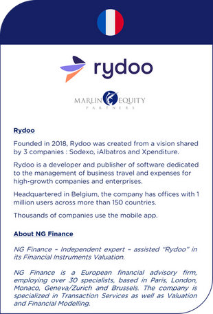 NG Finance assisted Rydoo in its financial instruments valuation