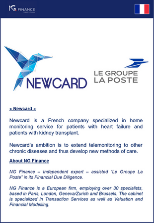"NG Finance assisted ""Le Groupe La Poste"" in its Financial Due Diligence"