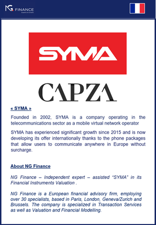 NG Finance assisted SYMA in its financial instruments valuation