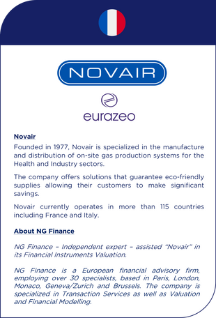 NG Finance assisted Novair in its financial instruments valuation