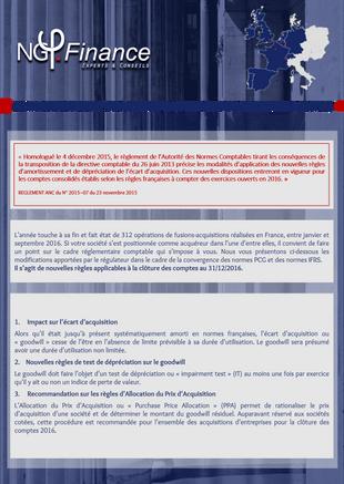 Newsletter : Les nouveaux enjeux de l'affectation de l'écart d'acquisition (Goodwill)