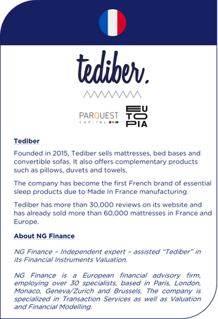 NG Finance assisted Tediber in its financial instruments valuation