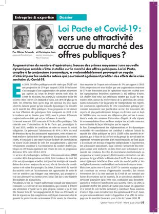 Olivier Schwab et Christophe Lam ont l'honneur d'apparaître dans la dernière édition du Magazine  Op
