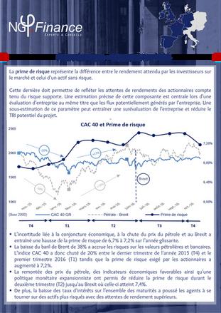 Newsletter : Prime de risque - Rétrospective 2016