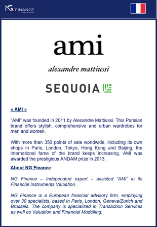"NG Finance assisted ""AMI Paris"" in its Financial Instruments Valuation."
