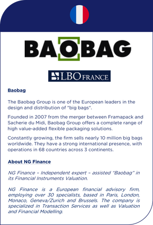 NG Finance assisted Baobag in its financial instruments valuation