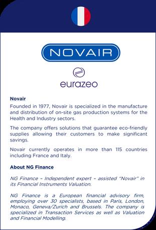NG Finance a assisté Novair dans sa valorisation d'instruments financiers