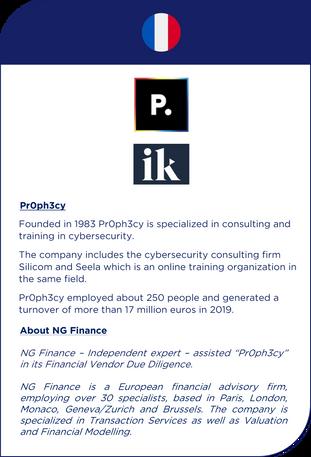 NG Finance a assisté Pr0ph3cy dans sa Vendor Due Diligence financière