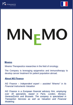 NG Finance assisted Mnemo in its Financial Instrument Valuation