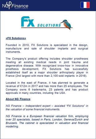 Fx Solutions - NG Finance a accompagné la société Fx Solutions dans la valuation d'instruments f