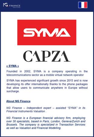 NG Finance a assisté SYMA dans sa valorisation d'instruments financiers