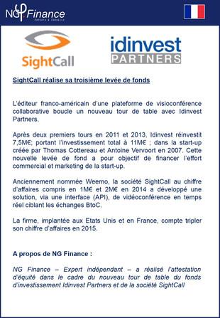 Opération Levée de Fonds : SightCall