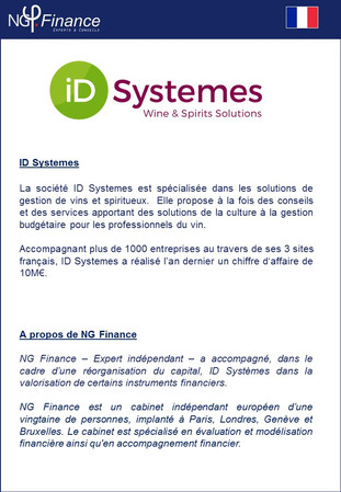 ID Systemes - NG Finance à accompagné la société dans la valorisation de certains instruments financ