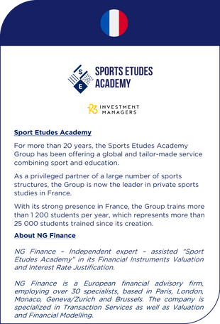 NG Finance assisted Sports Etudes Academy in its financial instruments valuation