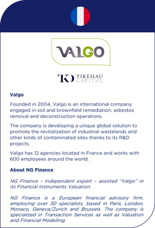 NG Finance assisted Valgo in its financial instruments valuation