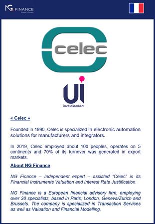 """NG Finance a assisté """"Celec"""" dans sa valorisation d'instruments financiers et sa justi"""