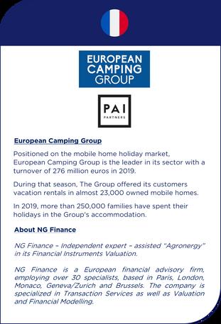 NG Finance a assisté ECG dans sa valorisation d'instruments financiers