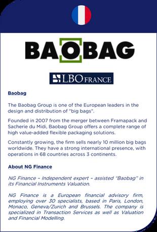 NG Finance a assisté BAOBAG dans sa valorisation d'instruments financiers