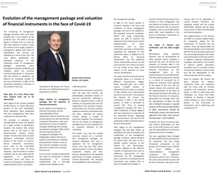 Jacques-Henri Hacquin appeared in the last edition of the Magazine Option Droit & Affaires in Ju