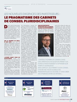 Notre directeur Transaction Services Guilhem Pinot de Villechenon met en avant les nouvelles exigenc