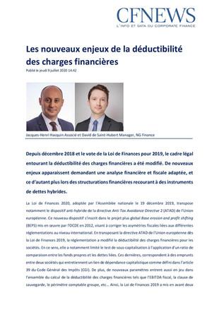 Jacques-Henri Hacquin et David de Saint-Hubert sont publiés dans la dernière édition de Parole d&#39