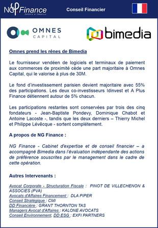 Opération LBO : Bimedia
