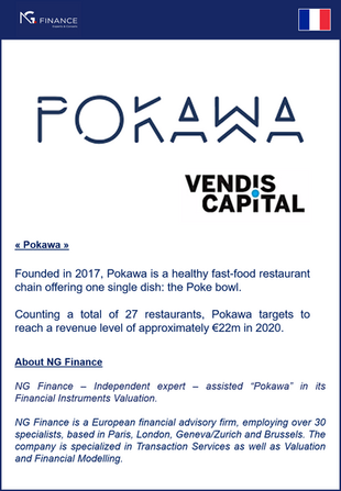 "NG Finance assisted ""Pokawa"" in its Financial Instruments Valuation"
