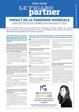 Quel a été l'impact de la pandémie mondiale sur les tests de dépréciation ?