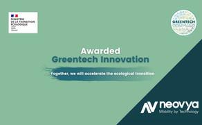 Neovya received the GreenTech Innovation award!