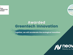 Neovya received the GreenTech Innovation award!