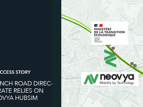 French Road Directorate is testing dynamic allocation of lanes on the RN201 with Neovya Hubsim